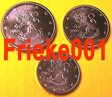Finland - Finlande - 1,2 en 5 cent 2005 unc.