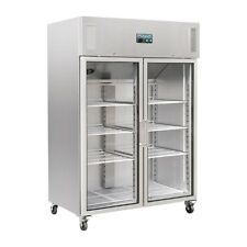 More details for polar upright double glass door gastro refrigerator 1200 ltr - cw198 catering