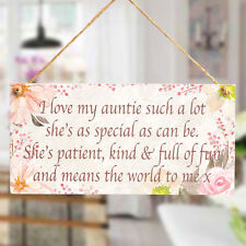 I love my auntie such a lot - Small Gift Plaque For A Special Auntie From Niece