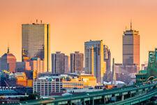Boston Massachusetts JFK Prudential Skyline Panorama Photo Poster 18x12