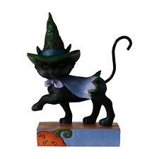 Jim Shore Heartwood Creek - Halloween Mini Walking Black Cat Figurine - 6006705