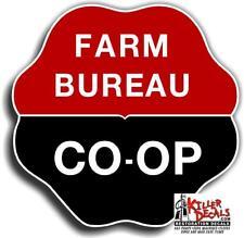 "6"" 1955-82 FARM BUREAU CO-OP GASOLINE VINYL DECAL OIL CAN / GAS PUMP / LUBSTER"