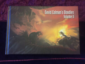 DAVID COLMAN'S Doodles vol. II SIGNED Sketchbook Hardcover 2009 2 animals art