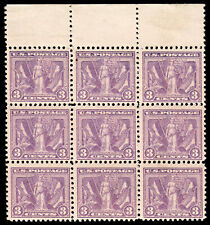 US #537 3c Victory Issue Block of 9 MNH F-VF