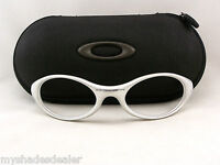 Vintage Oakley Eye Jacket 1.0 Sunglasses PREOWNED Matte Silver Frames PARTS