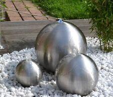 2. Wahl Kugelbrunnen 3er-Set 40/30/20 cm Springbrunnen Garten Edelstahl matt LED