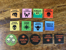 MAN O WAR MARKER COUNTERS TOKENS MARKERS CHAOS VARIATIONS AVAILABLE (192)