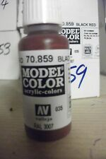 MODEL PAINT 17ml BOTTLE VAL859  AV Vallejo Model Color  Black Red Cadmium Brown