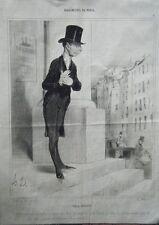 LITHOGRAPHIE DE DAUMIER 19è BOHEMIENS DE PARIS PIQUE ASSIETTE LA NOCE