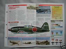 Aircraft of the World Card 21 , Group 13 - Mitsubishi J2M Raiden 'Jack'