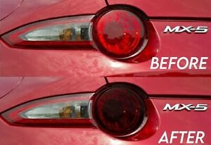 Dark Smoke Brake Tail Light Overlay for 2015+ Miata MX5