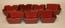 7 Pottery Barn Japan Asian Square Paprika Red 6 Inch Noodle Bowls