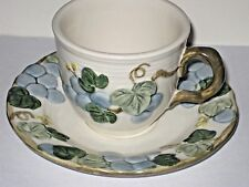 Metlox PoppyTrail Sculptured Blue Grape Cup and Saucer