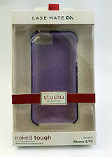 Case Mate Studio Collection Naked Tough Purple Clear Case Cover for iPhone 5/5S