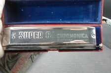 VINTAGE GERMAN HOHNER SUPER 64 HARMONICA CHROMONICA WITH CASE