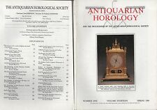 ANTIQUARIAN HOROLOGY Vol.XVIII (Spring 1989-Summer 1990) - SIX ISSUES & INDEX