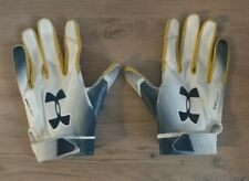 Notre Dame Football Team Issued Player Game Used Under Armour Gloves Spotlight