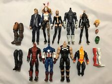 Marvel Legends Custom Fodder LOT, Hasbro Male And Female Bodies + Stand Bases