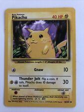 Pikachu 58/102 Base Set Unlimited 1999 Pokemon