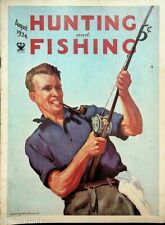 Vintage Hunting & Fishing Magazine August 1934 Great Cover Sporting