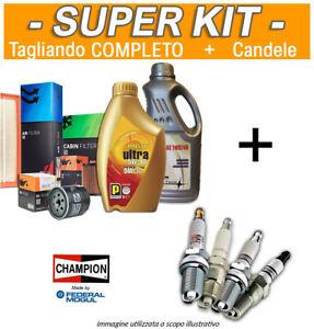 Kit Tagliando COMPLETO + 4 Candele MAZDA 626 V '98-'02 2.0 H.P. 100 KW 136 CV
