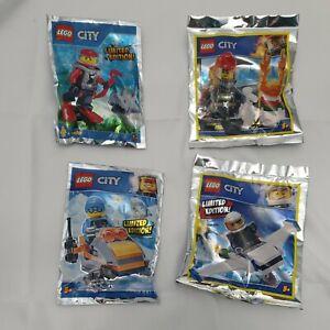 Lego City Limited Edition 4 Sets Flieger, Schneemobil, Feuerwehrmann, Taucher