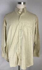 Gitman Bros Mens Cream Mini Plaids Long Sleeve Shirt: Size 17/35 Made In USA (i1