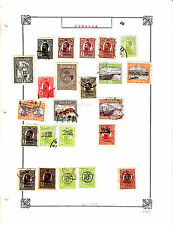 ROMANIA Old Stamps Roumanie vieux timbres sur feuiles d'albums lot 416