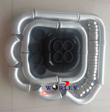 "2.5"" 64mm Aluminum Universal Intercooler Turbo Piping + Black hose + T-Clamp kit"