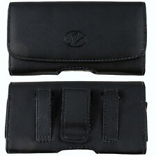 For BLU Studio C 5 + 5 Leather Case Belt Clip Cover Holster