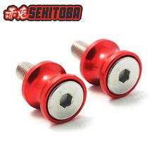 Universal fit CNC Red Swingarm Spools Slider Robbin 8mm for Suzuki Honda #LI02
