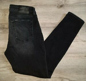 LUCKY BRAND WOMENS BLACK MID-RISE LOLITA SUPER SKINNY DISTRESSED JEANS SIZE 8/29