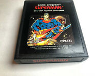 Superman (Atari 2600, 1978) ~ tested ~ free shipping - Picture label.