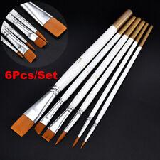 6Pcs Art Painting Brushes Set Oil Acrylic Watercolor Artist Paint Brush Kit Tool