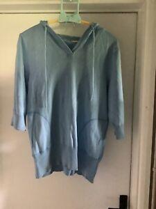 Soul Cal hoodie size 16 sky blue