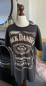 NEW NEXT Jack Daniels T Shirt Size M Medium Dark Grey