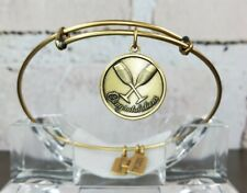 "Wind & Fire ""Congratulations"" / Toast Charm Expandable Bangle Gold-Finish USA"