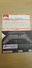 More details for 2 metallica roam tour concert tickets stub milton keynes 1993 & g mex 1992