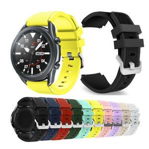 Watch Band for Samsung Galaxy Watch 3 45mm,Silicon Rugged Sport Wrist Strap