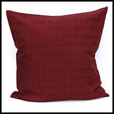 "Jacquard Cushion Cover 100 Cotton Decorative Pillowcase Size 20 & 28 Wine 20""x 20"""
