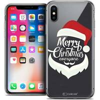 Coque Crystal Gel Pour iPhone X (10) Extra Fine Souple Noël 2017 Merry Everyone
