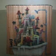 Cartoon Home Decor Shower Curtain House Tub Design Bathroom Waterproof Polyester
