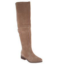 Sole Society Suede Over the Knee Boots - Sonoma Taupe Women's 8 New Tall Boots