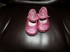 Baby Girls Pink Sparkly W/Stars Mary-Jane Kid Connection Shoes Size 3 NWOT