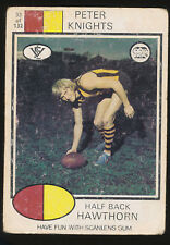 1975 Scanlens No. 33 Peter Knights Hawthorn Hawks Card White Back ++++