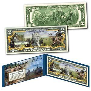VIETNAM WAR Second Indochina War Official Genuine Legal Tender $2 U.S. Bill