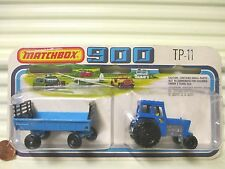 LESNEY MATCHBOX 1978 TP11 Ford Tractor + Hay Trailer Two Pack New + Unopened Pkg
