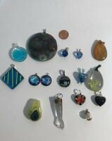 Lot of Glass Pendants Jewelry