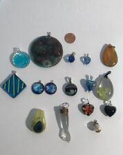 Lot of Glass Pendants Jewelry