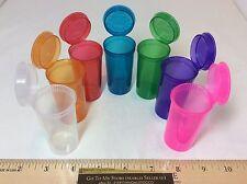 7 Pieces 7 Colors 13 DRAM Squeeze Pop Top Prescription Pill Bottles Medication